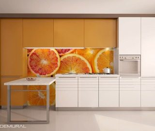 juicy citruses on the wall kitchen wallpaper mural photo wallpapers demural