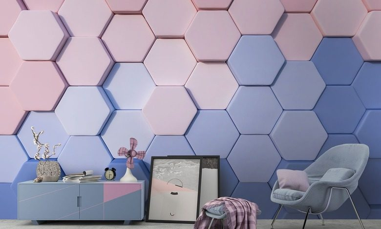 colorful honeycombs three dimensional wallpaper mural photo wallpapers demural