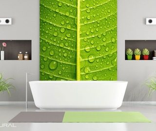 green intimate close ups bathroom wallpaper mural photo wallpapers demural