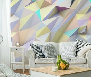 geometrically pastel abstraction wallpaper mural photo wallpapers demural