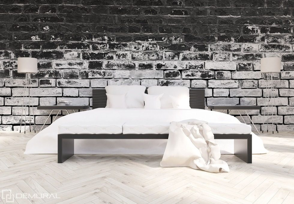 Walls in contrasting black and white Black and white wallpaper, mural Photo wallpapers Demural