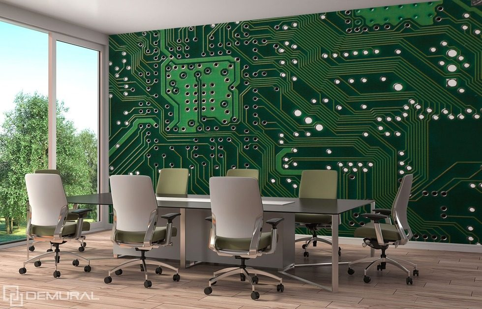 The strength of the mechanical minds Office wallpaper mural Photo wallpapers Demural