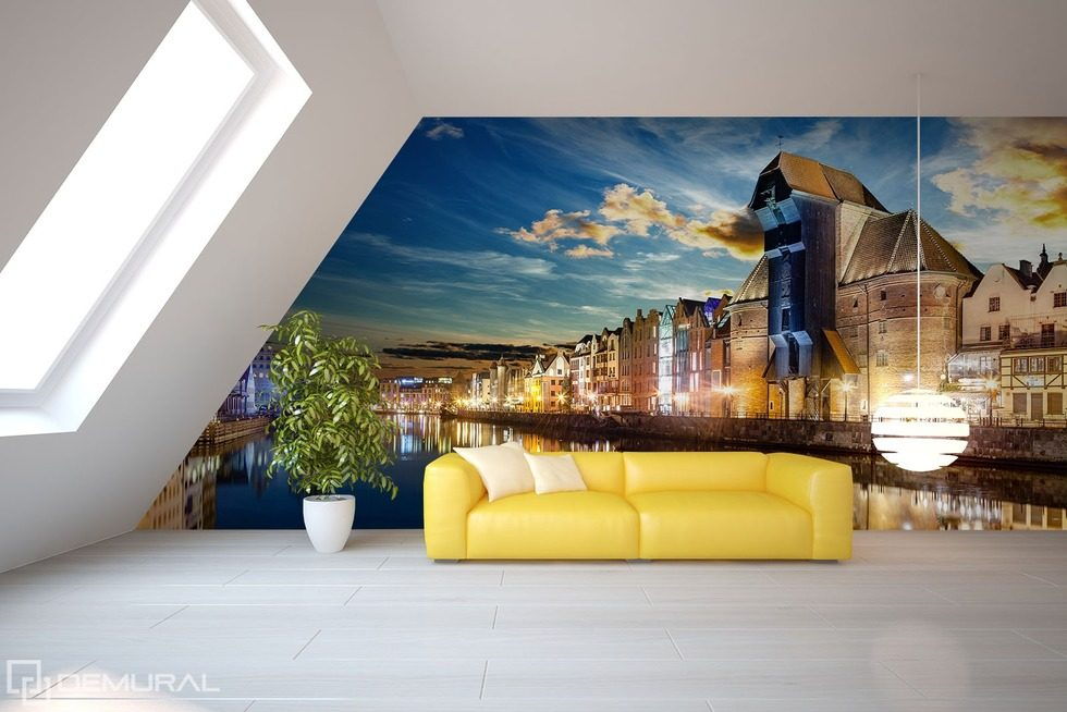 Architecture inside the room Living room wallpaper mural Photo wallpapers Demural