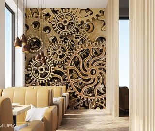 proper work of the cogs patterns wallpaper mural photo wallpapers demural