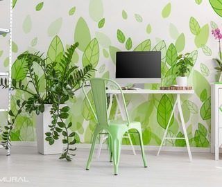 floristically green treat living room wallpaper mural photo wallpapers demural