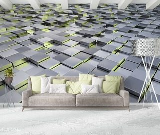 in the geometric environment three dimensional wallpaper mural photo wallpapers demural