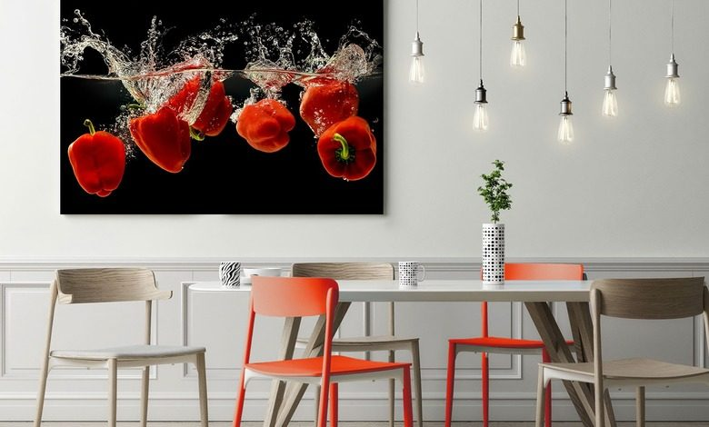 the pepper red dance canvas prints in dining room canvas prints demural