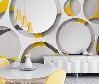 the round cut outs in the light tones abstraction wallpaper mural photo wallpapers demural