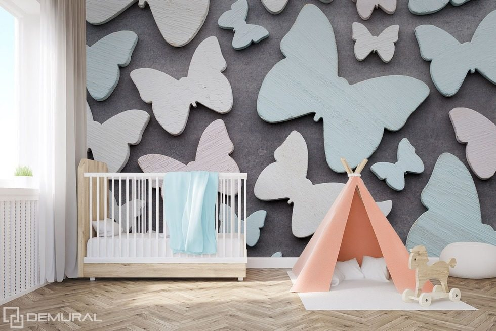 With the butterfly wing Child's room wallpaper mural Photo wallpapers Demural