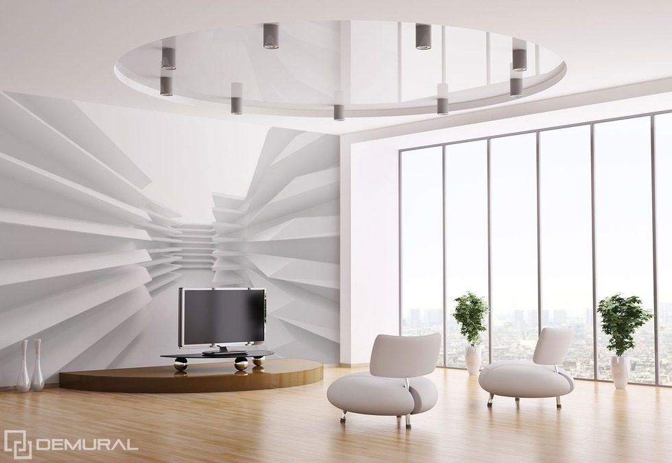 In the vision of the white space Optically magnifying wallpaper, mural Photo wallpapers Demural