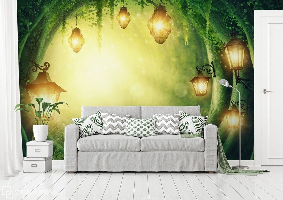 Where the magic takes place Living room wallpaper mural Photo wallpapers Demural