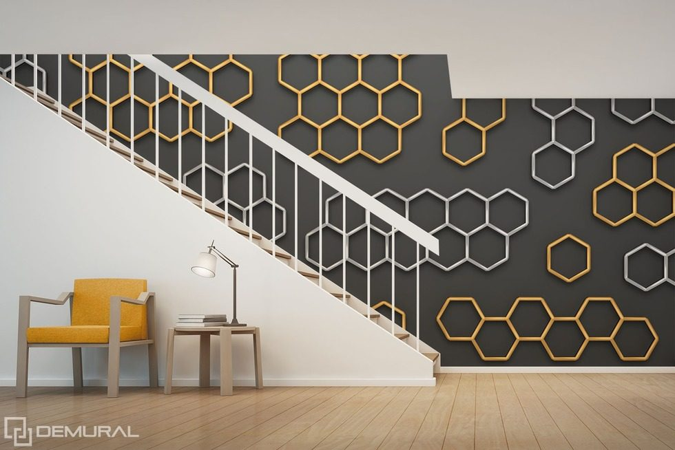 Like in a hive - Magic of geometry Patterns wallpaper mural Photo wallpapers Demural