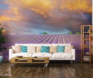 walking on the provencal fields provence wallpaper mural photo wallpapers demural