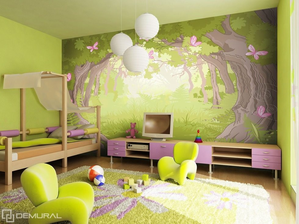 In the magical forest world Child's room wallpaper mural Photo wallpapers Demural