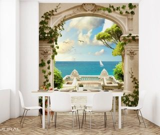 the view on the paradise optically magnifying wallpaper mural photo wallpapers demural
