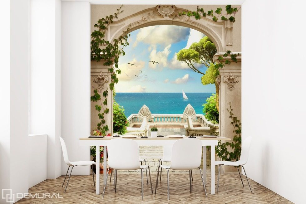 The view on the paradise Optically magnifying wallpaper, mural Photo wallpapers Demural