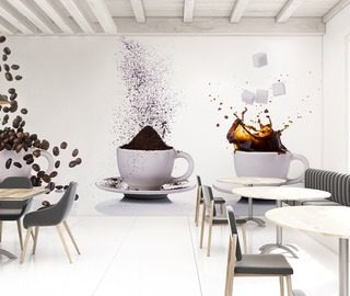 it is time for a sip of coffee cafe wallpaper mural photo wallpapers demural