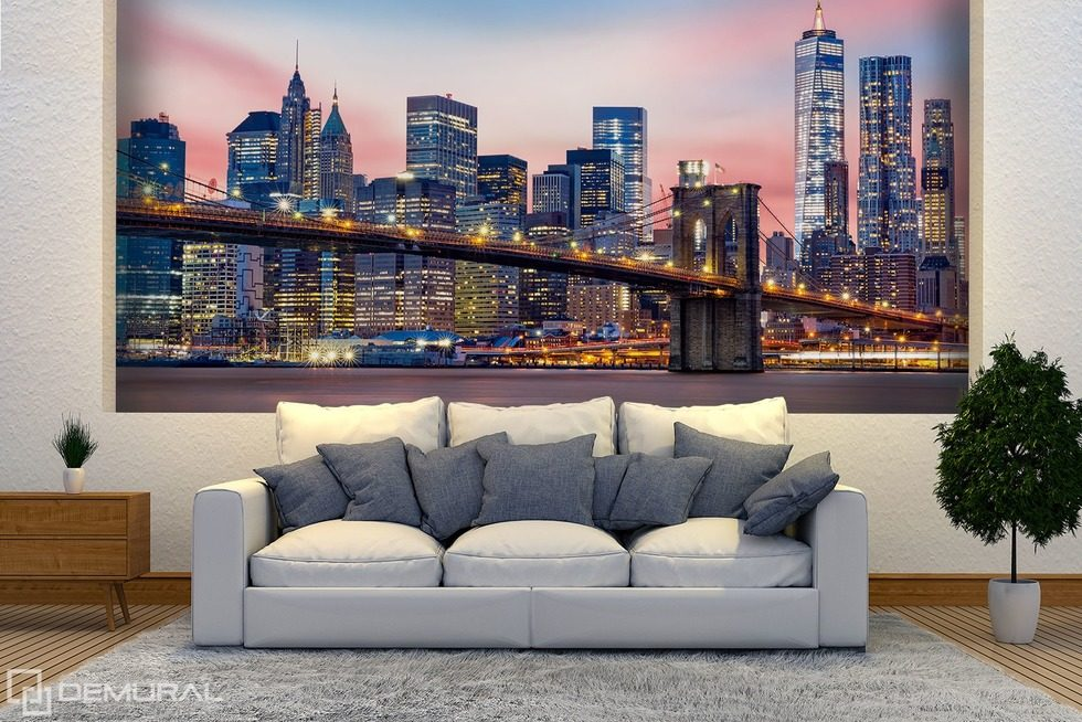 Magical lights of the city Cities wallpaper mural Photo wallpapers Demural