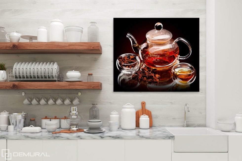 Teatime Canvas prints in kitchen Canvas prints Demural