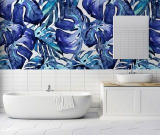 plant gentleness bathroom wallpaper mural photo wallpapers demural