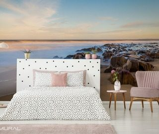 morning by the seashore bedroom wallpaper mural photo wallpapers demural