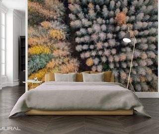 the power of three dimensional forest wallpaper mural photo wallpapers demural