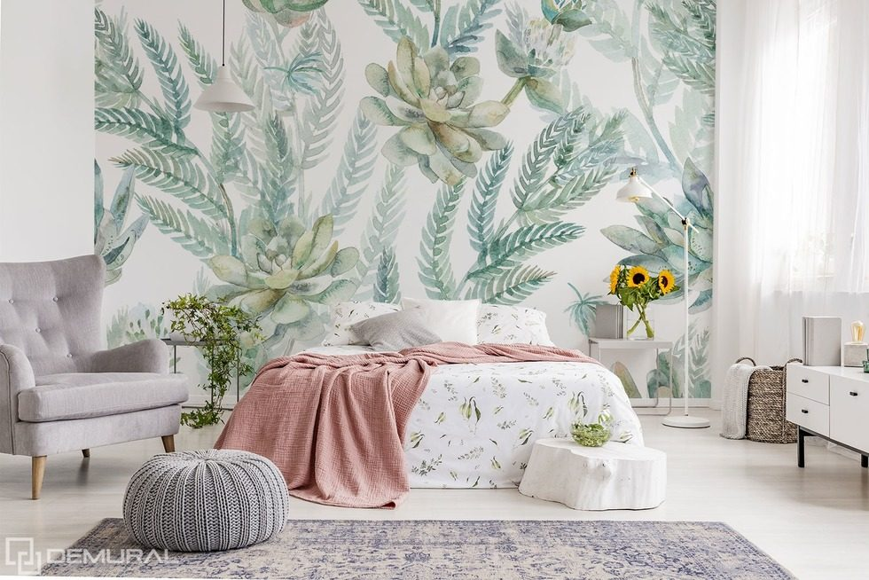 Painted with delicacy Bedroom wallpaper mural Photo wallpapers Demural