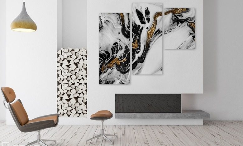 white golden black beauty canvas prints abstraction canvas prints demural