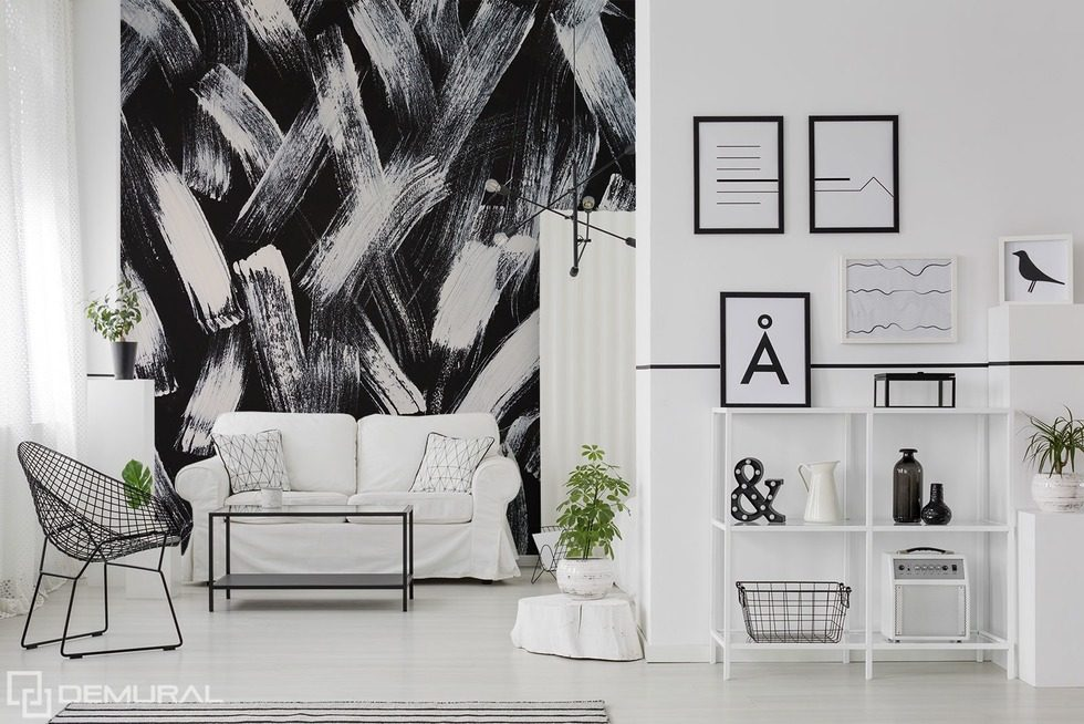 Combination of black and white Black and white wallpaper, mural Photo wallpapers Demural