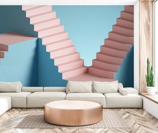 sweet three dimensional staircase three dimensional wallpaper mural photo wallpapers demural