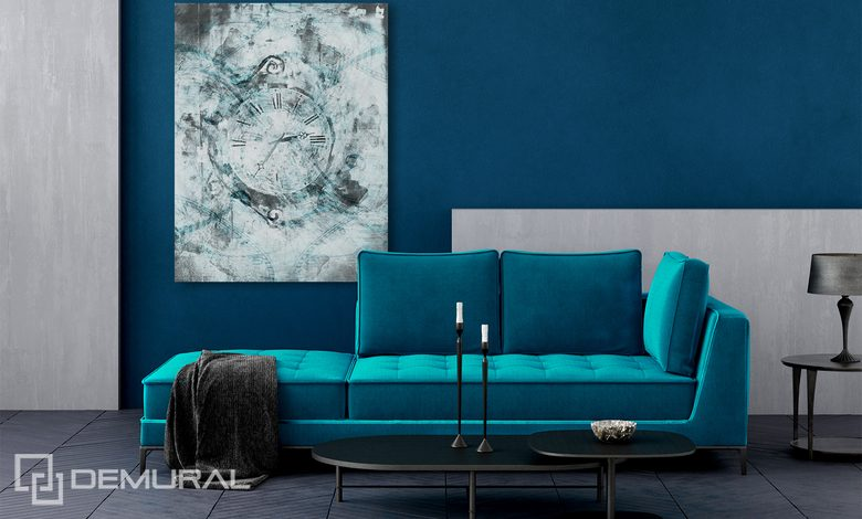 turquoise fashionable and refined canvas prints retro vintage canvas prints demural