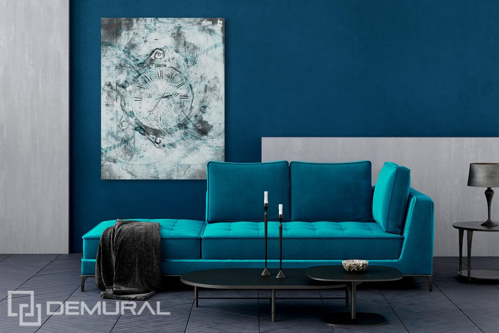 Turquoise, fashionable and refined Canvas prints Retro Vintage Canvas prints Demural
