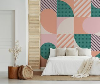 geometric climate of the 1960s bedroom wallpaper mural photo wallpapers demural