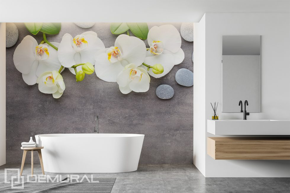 Decoration for the spa salon at home - enjoy the relaxation Bathroom wallpaper mural Photo wallpapers Demural