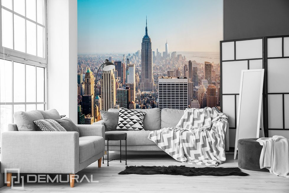 City to the horizon Streets wallpaper mural Photo wallpapers Demural
