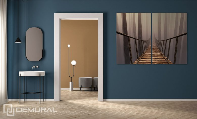 a deep perspective in the mist canvas prints in living room canvas prints demural