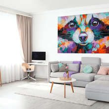 Sweet-raccoon-in-artistic-setting-canvas-prints-animals-canvas-prints-demural